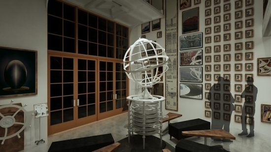 The Long Now Salon design with Orrery