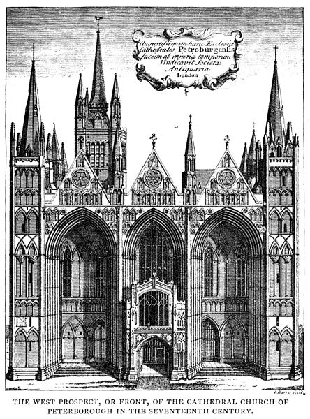 444px-Peterborough_Cathedral_-_West_prospect_C17_-_Project_Gutenberg_eText_13618