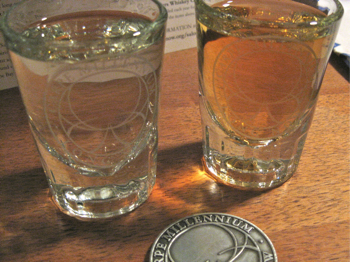 Long Now Shot Glasses and Challenge Coin