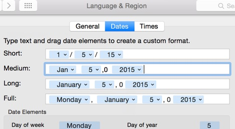 5-digit dates, Y10K complicance on Yosemite