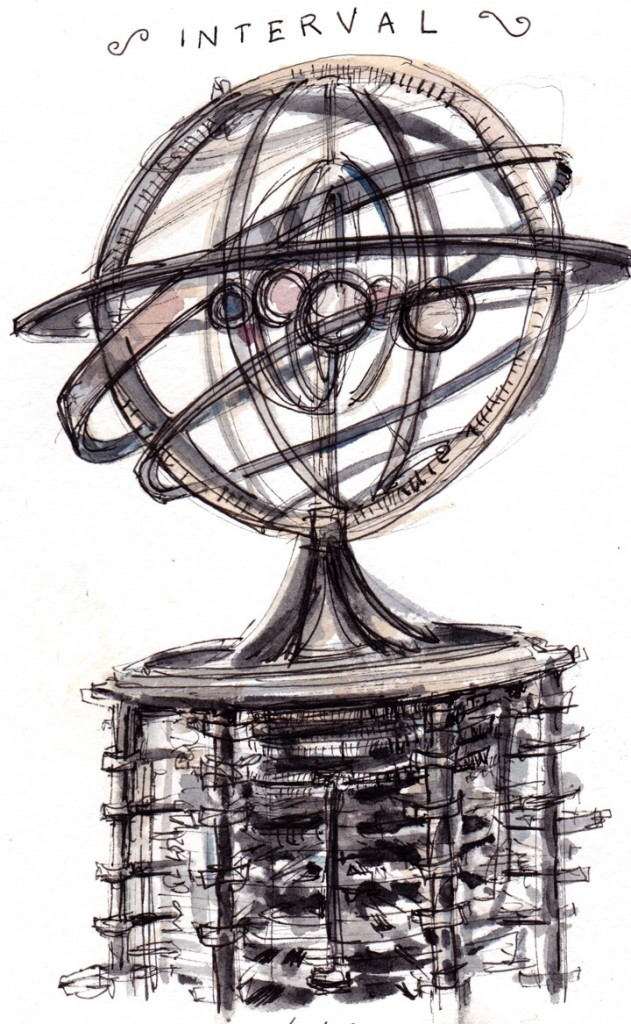 Orrery sketched by Dan Bransfield