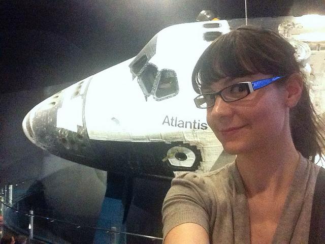 Ariel Waldman and the Shuttle Atlantis