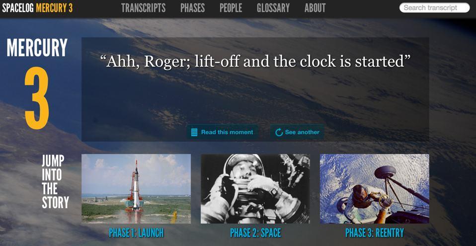 Spacelog Mercury 3 transcripts