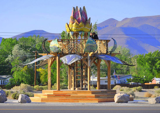 The Bottlecap Gazebo in Fernley, Nevada; photo courtesy of Jerry Mansker