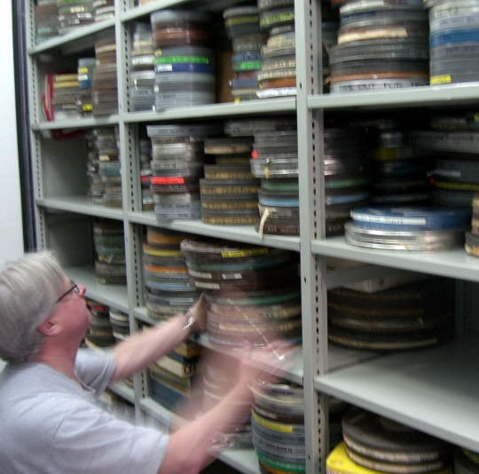 Rick Prelinger film shelves