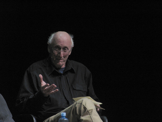 Stewart Brand speaks at The Interval on January 27, 02015