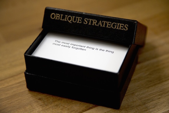 Oblique Strategies card deck