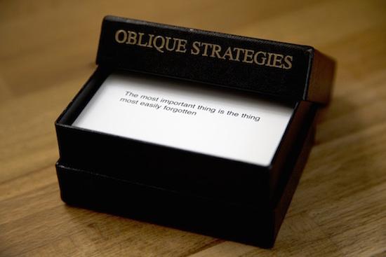 Oblique Strategies card deck