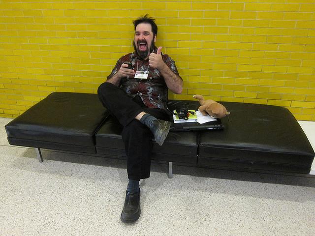 Jason Scott at ROFLCon II -- Photo by Scott Beale