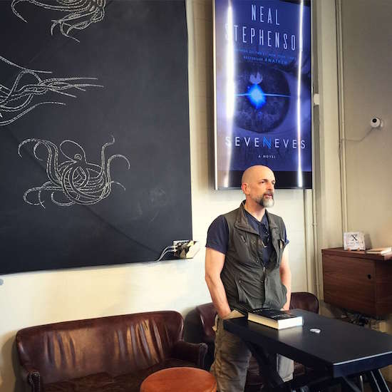 Neal Stephenson talks about his latest book #SEVENEVES at The Interval