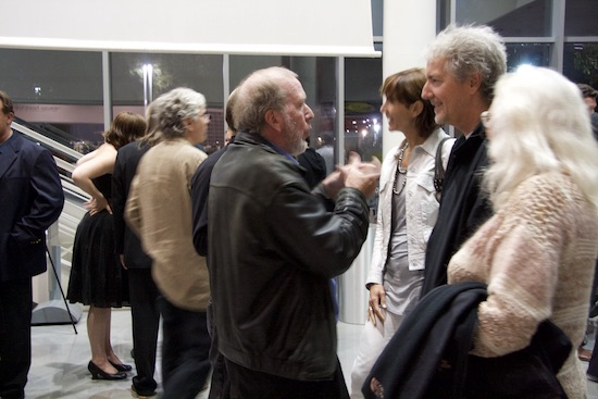 Kevin Kelly and Louis Rosetto, 77 Million Paintings opening in San Francisco, 02007; photo by Robin Rupe